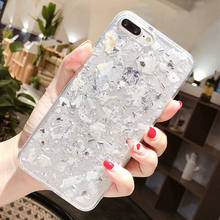 Luxury Shining Foil Marble Phone Case For iPhone 6 6s 7 8 Plus X Epoxy Soft 50cd92301174