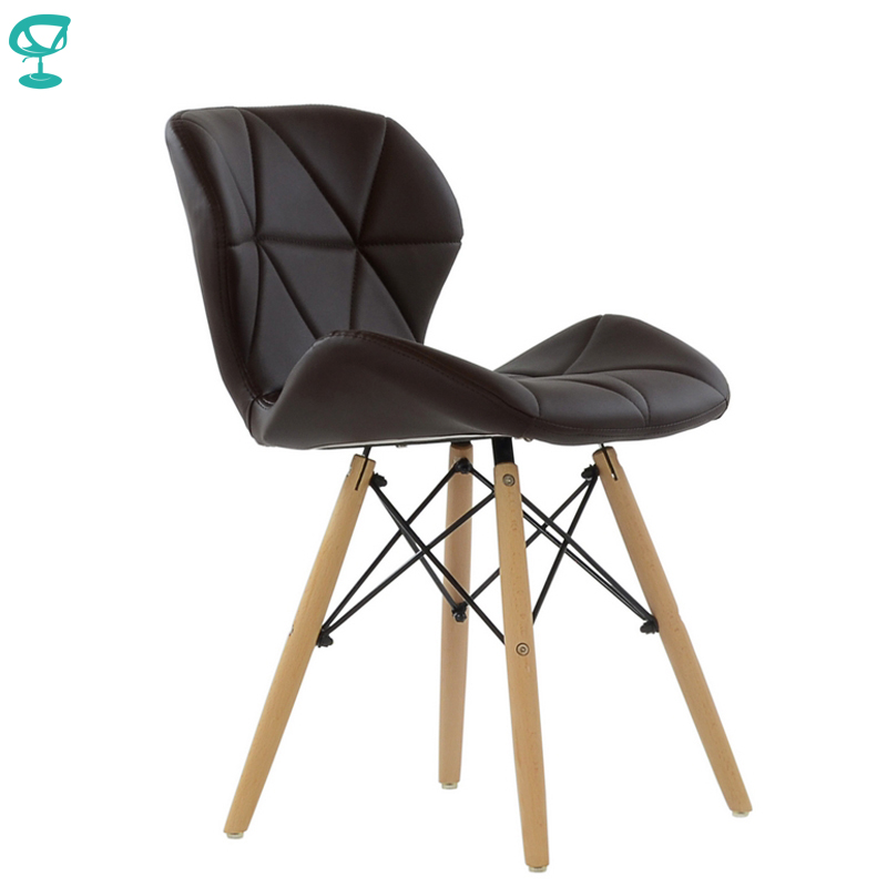 95282 Barneo N-42 Eco-Skin Wood Kitchen Breakfast Interior Stool Bar Chair Kitchen Furniture Brown Free Shipping In Russia