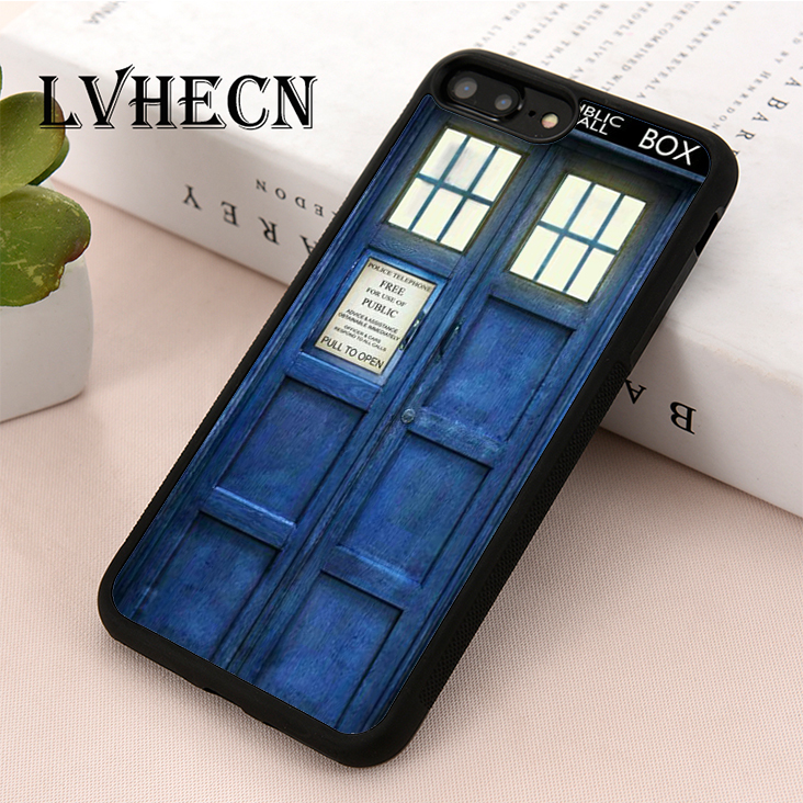 Lvhecn Tpu Skin Phone Case Cover For Iphone 5 5s Se 6 6s 7 8 Plus X Xr Xs Max Doctor Who Police Box Tardis Cellphones & Telecommunications