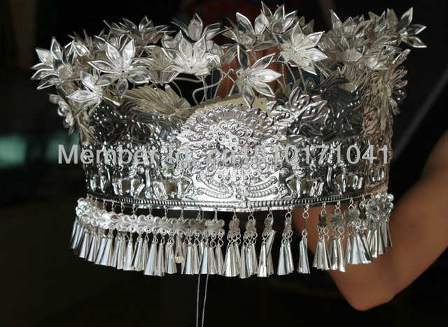 Chinese Miao costumes accessories Miao silver cap Hmong
