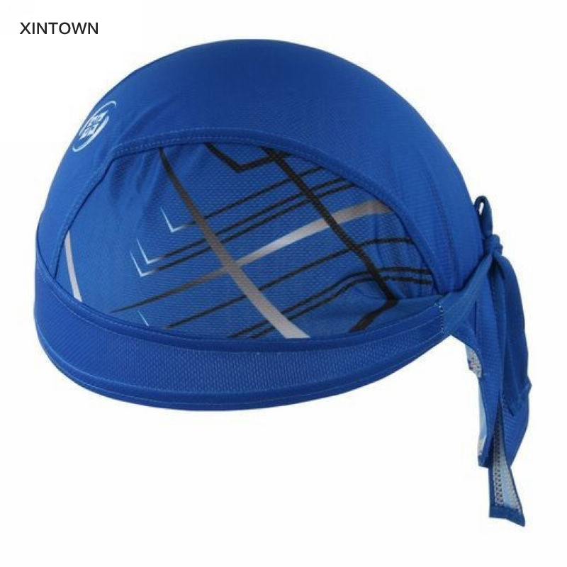 XINTOWN Practical Bicycle Bike Cycling Outdoor Sports Bandana Pirate Hat blue Headband Cap ONE-SIZE