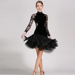 Image 2 - Rosso del merletto di ballo latino del vestito frangia delle donne vestito latino vestiti di ballo Dancewear latina salsa abiti per il ballo samba tango
