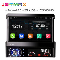 JSTMAX 7 Quad Core 2G RAM 1 Din Android 6.0 Car DVD Player Radio Stereo Universal with GPS Navi Bluetooth Multimedia System 4G