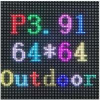 P3.91 outdoor led display panel screens waterproof led display module smd1921 250*250mm 64*64 dots
