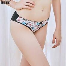 8fd6e7e05 Funcilac underwear mulheres g string sexy underpant sem costura floral  print grils cintura baixa patchwork fifes bikini calcinha.
