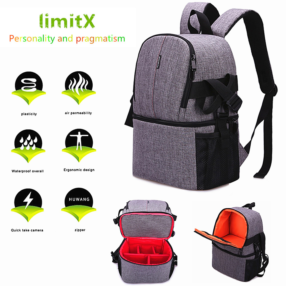 Waterproof laptop DSLR Mirrorless Camera Backpack Bag Case Cover for Leica Nikon Canon Sony