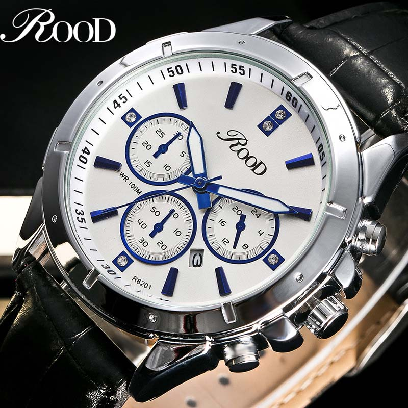 ROOD Mens Watch Top Brand Luxury Sports Watches Men Fashion Clock Dress Men's Quartz Watch Male Hours R62010 mens watch top luxury brand fashion hollow clock male casual sport wristwatch men pirate skull style quartz watch reloj homber
