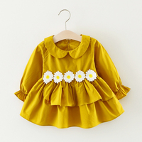 Colorful Spring Autumn Baby Girls Dress Infant Party Dress For Toddler Girl 6 24M Brithday Cotton