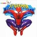Oferta especial Spiderman Super Heroes Juguetes Ballon Foil Globos 30 Pulgadas Gigante Globos Foil El Globo Para Los Niños Juguetes