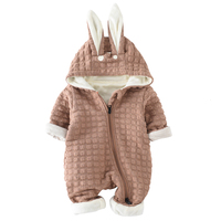 2018 Tosleo Rabbit Hooded Baby Rompers Newborn Clothes High Quality Spring Hooded Clothing Kids Spring Jumpsuits