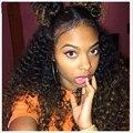 7А 250% Плотность Deep Вьющиеся Фронта Шнурка Человеческих Волос Парики Для черные Женщины Бразильский Виргинский Вьющиеся Полные Парики Шнурка С Волосами Младенца