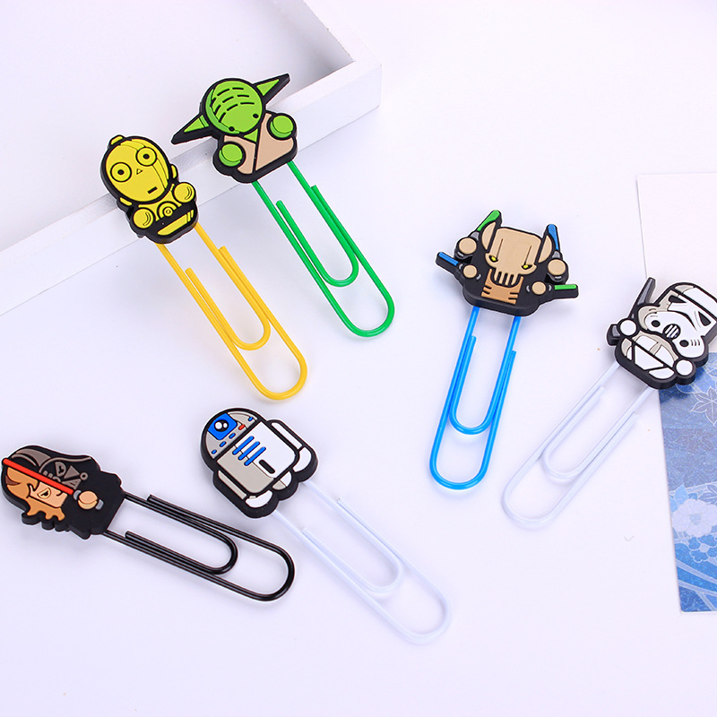 1 PCS Cute Novelty Star Wars Paper Clips Bookmark Promotional Gift Stationery School Office Supply Paperclip Bookmarks Escolar