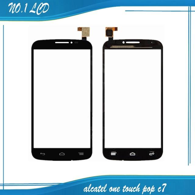 Blanco sensor de lente de cristal del panel digitalizador de pantalla táctil para alcatel one touch pop c7 7041 ot-7041d 7041x ot7040d 7040e 7041d