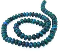Unique Pearls jewellery Store 5X8MM Blue Green Jasper Gemstone Loose Beads One Full Strand 15'' LC3 0302