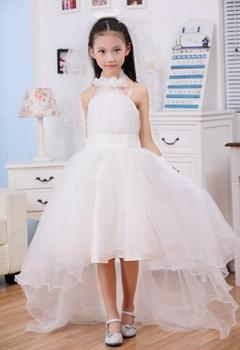 New 2017 tulle white baby bridesmaid flower girl wedding dress fluffy ball gown USA birthday evening prom cloth tutu party dress