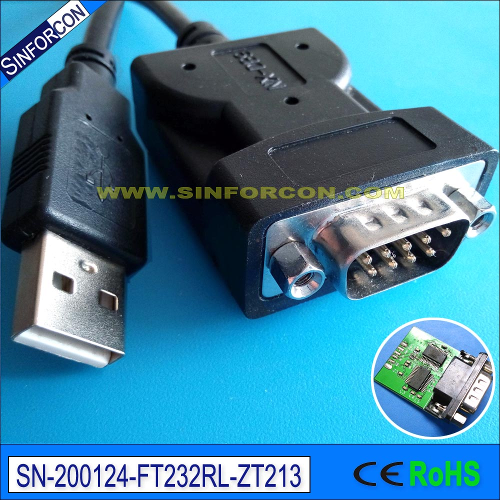 Win10 Sinforcon Cp2102 Ftdi Ft232rl Usb Rs232 Adapter With Pc Db9 Crossover Cable Schematic Virtual Com Port Full Pinout Usb2rs232 In Computer Cables Connectors From