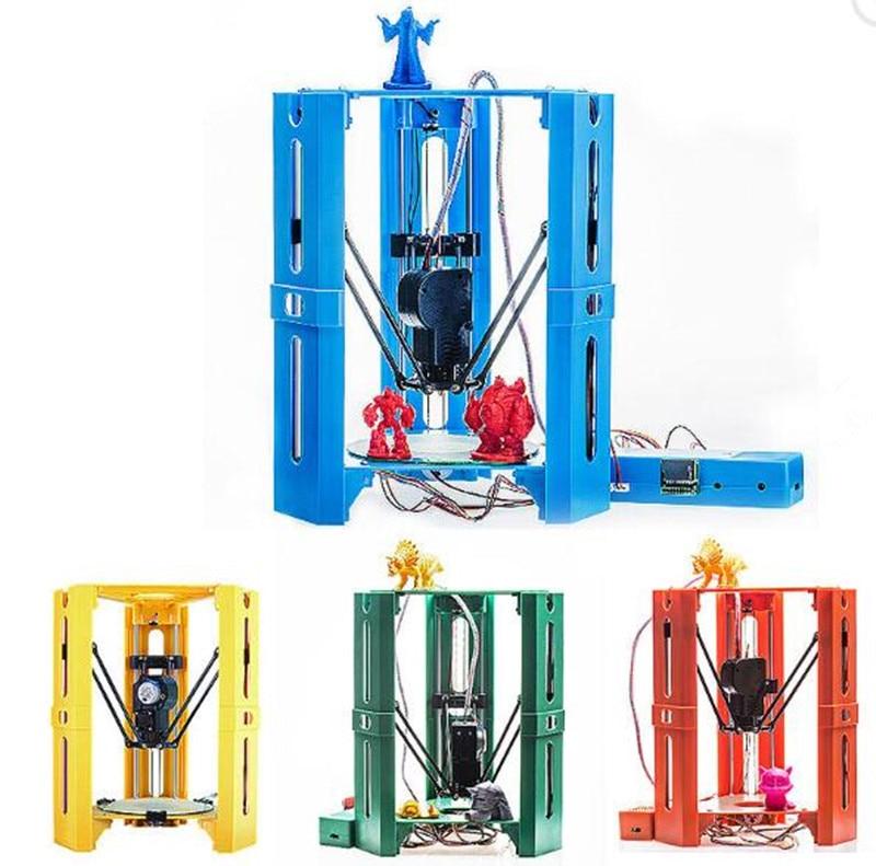 Мини DIY Собранный 3D-принтеры 100*100 мм печати Размеры Поддержка Off-Line 0.4 сопла коссель Delta 3D-принтеры комплект 1.75 нити Бесплатная