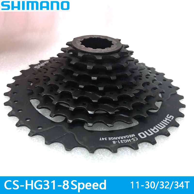 <font><b>SHIMANO</b></font> bicycle parts CS-<font><b>HG31</b></font> mountain bike star MTB cassette flywheel 11-30/32T ALIVIO DEORE bicycle parts 8s / 24s flywheel image