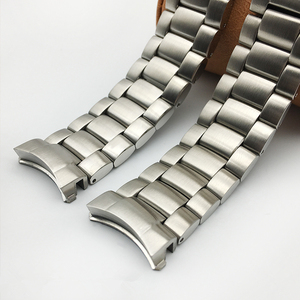 Image 2 - MERJUST AAA Quality 316L 20mm 22mm Silver Stainless steel Watch Bands Strap For omega seamaster speedmaster planet ocean Belt