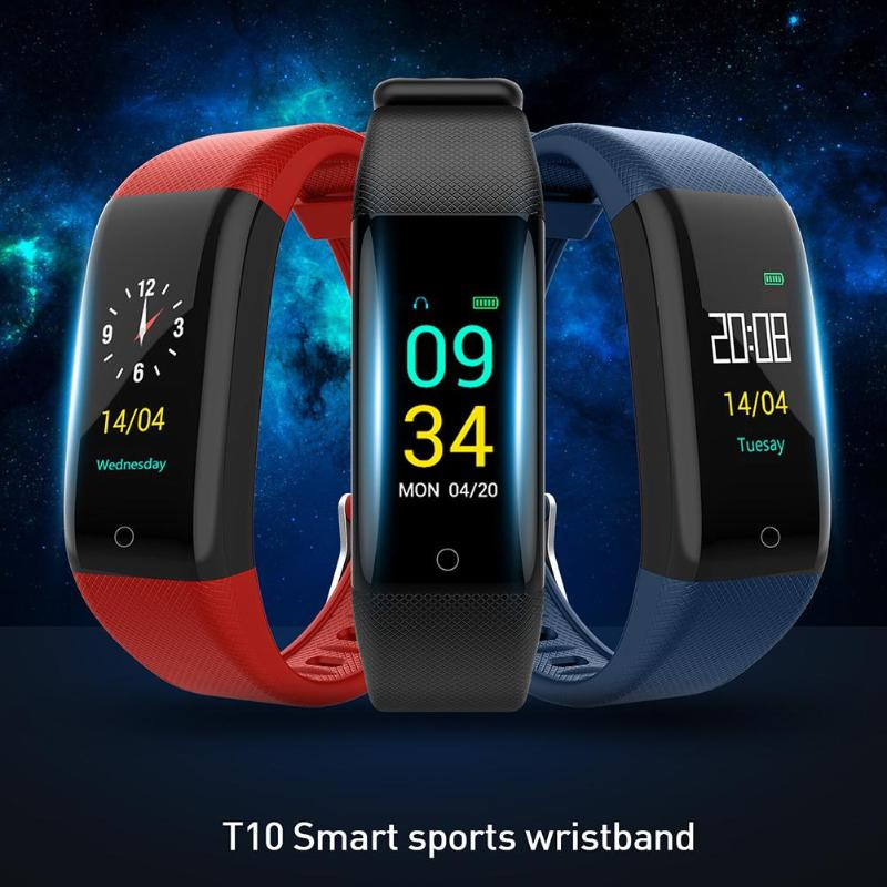 T10 Smart Watch IP68 Waterproof Smart Bracelet Heart Rate Fitness Tracker Wearable Device for Android IOS Swim Smart Wristband image