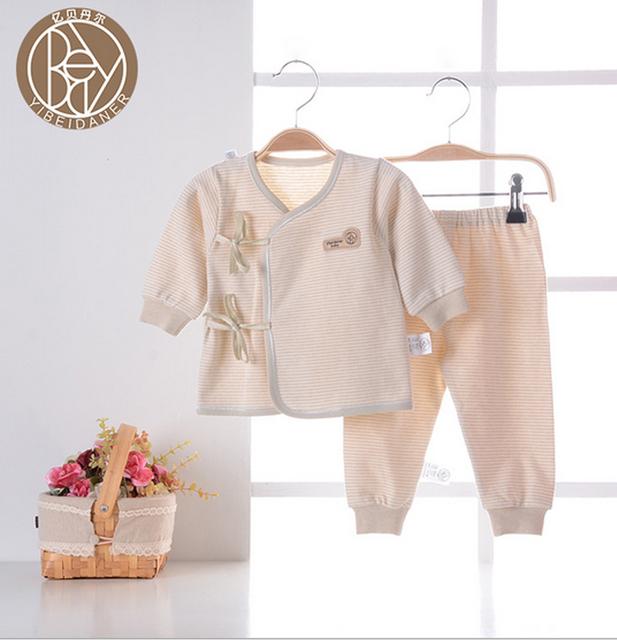 Nuevo 2017 del bebé Fijó 100% algodón Pijamas Ropa de bebé chaleco trajes de Primavera recién nacido Otoño Invierno pijama infantil