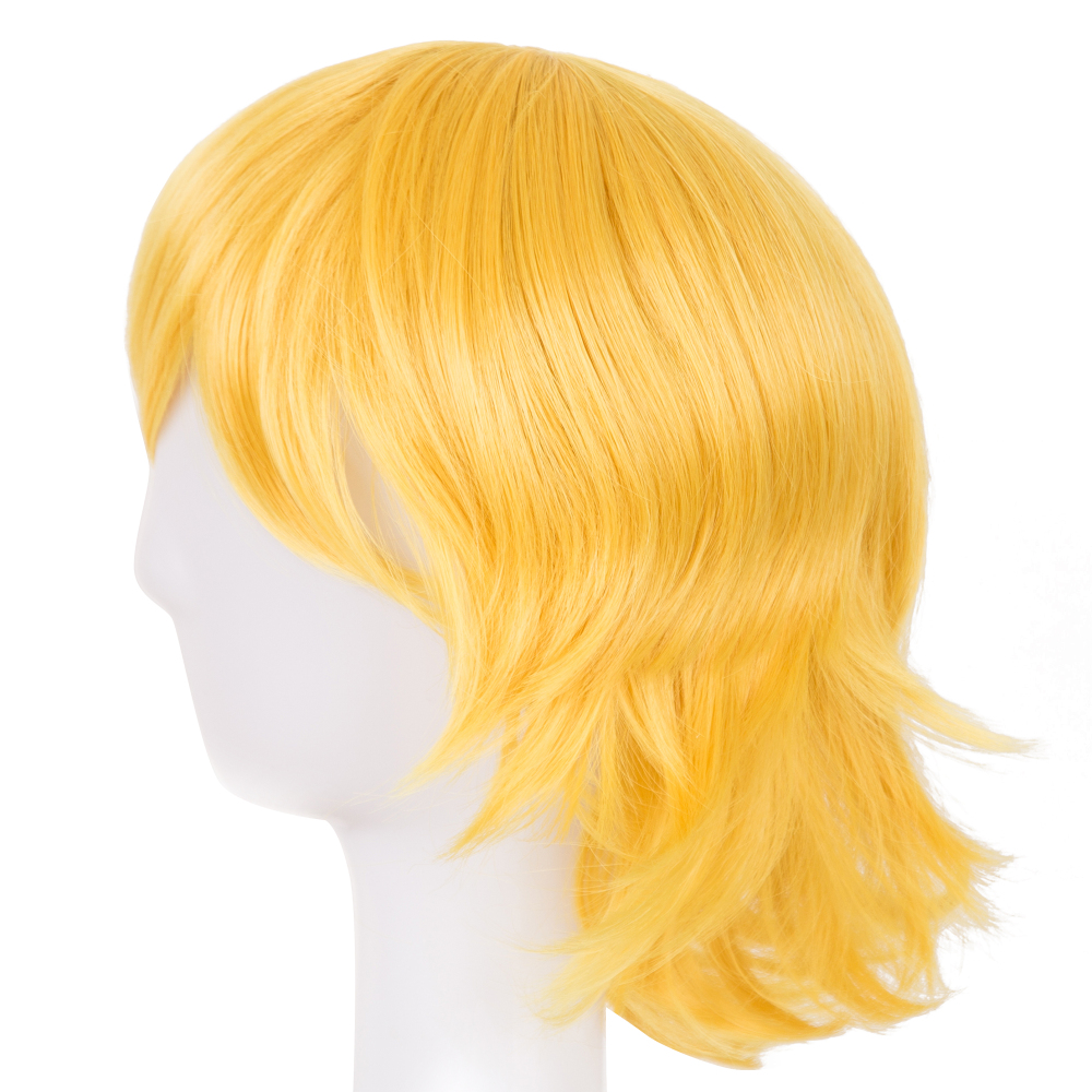 Cosplay Wig Fei-show Synthetic Heat Resistant Fiber Short Wavy Hair Women Ladies Costume Halloween Carnival Events Hairpiece Synthetic None-lacewigs