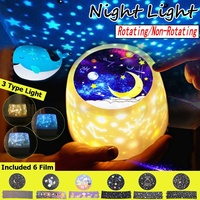 LED Night Light Starry Sky Star Moon Planet Projector Lamp USB Battery Operated For Birthday Gift wedding party decoration