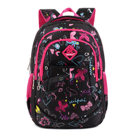 Cute Girls Floral Printing Elementary School Bag Backpack Trendy Children Kids Backpack Book Bag Student Satchel