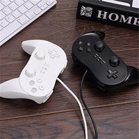 2017 New Classic Dual Analog Wired Game Controller Pro For Nintendo Wii Remote Double Shock Controller
