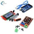 KINGROON Mega 2560 R3 Mega2560 REV3 + 1 шт. RAMPS 1 4 контроллер + RAMPS1.4 LCD 2004 часть для 3D принтеров части материнской платы