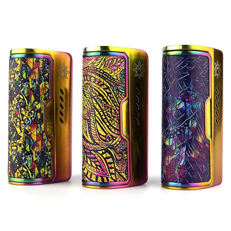 Alliage de Zinc d'origine DOVPO ROGUE 100 boîte Mods Cigarette électronique Mech Mod 3 couleurs e-cigarrate boîte mod vs Charon 218 w Mod