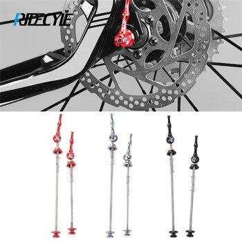 1 paire de brochettes de vélo ultralégères à dégagement rapide essieu en titane QR brochette vélo de route de montagne vtt moyeu de roue brochettes