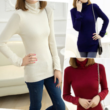 spring/summer women clothing knitted casual sweater fashion lace -neck female slim pullovers all-match basic thin pullovers