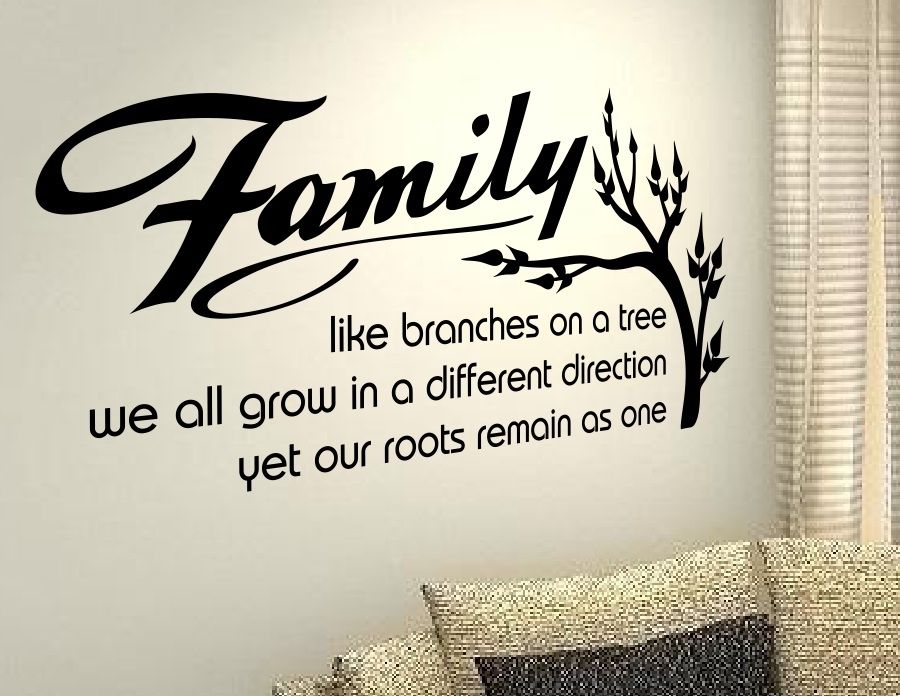 Free Shipping Quotes Family Tree Saying Wall Stickers Home