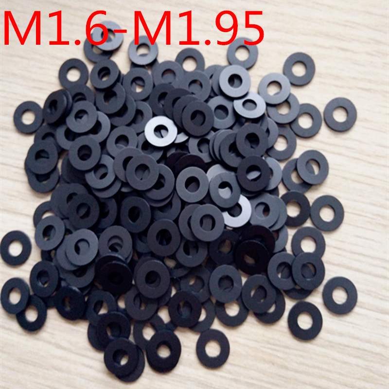 100pcs  M1.6-M1.95 thickness 0.15/0.2/0.25/0.3 mm High Precision Black Color Polyslider Graphite Nylon Flat Washer 100pcs  M1.6-M1.95 thickness 0.15/0.2/0.25/0.3 mm High Precision Black Color Polyslider Graphite Nylon Flat Washer