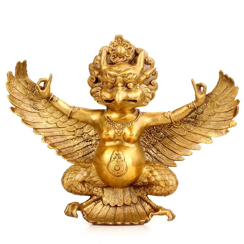 Home Decor Handicrafts: Pure Copper Brass Eagle Garuda Buddha Statue Exorcise Evil