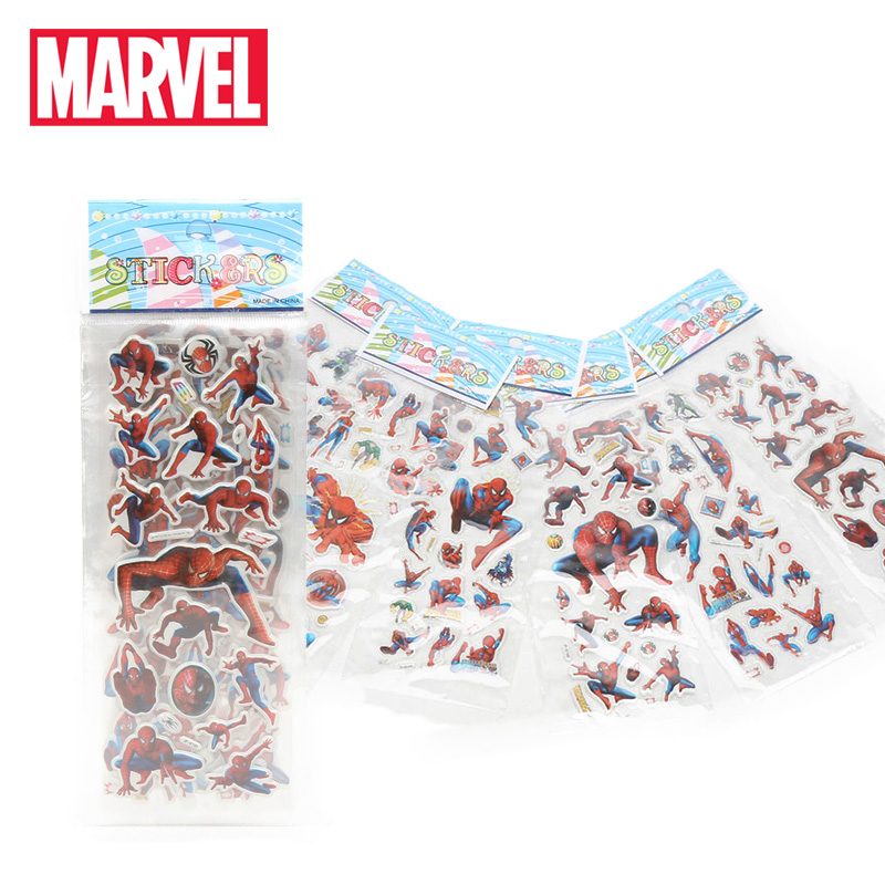6pcs/set Marvel Toys Avengers Endgame Stickers 3D Hulk iron Man Black Widow Raytheon Captain America Sticker Pack for Car Laptop(China)