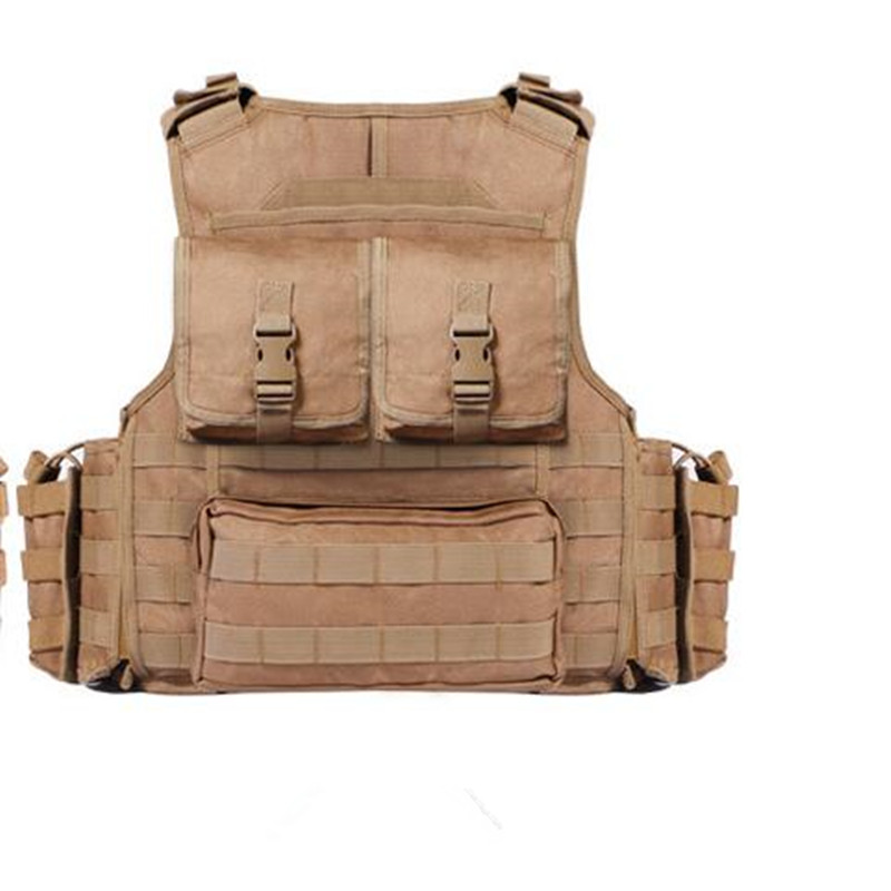 Men Outdoor Shooting Camping Hunting Training Removable Molle Combat Tactical Vest 600D Nylon CS Field Armor Gear Waistcoat Tops men outdoor hunting shooting nylon waistcoat molle tactical military paintball cs wargame protective chest vest gear with pouch