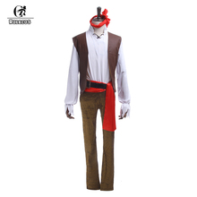 ROLECOS Brand New Arrival Men Halloween Costumes Pirates of the Caribbean Cosplay Costumes Halloween Party Costumes