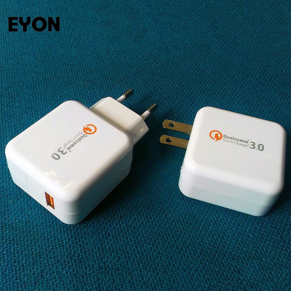 EYON 18W Quick Charge 3.0 Qualcomm Chipset QC 3.0 USB Turbo Wall Fast Travel Charger for HUAWEI P9 Zenfone 3 HTC 10 A9 LG G5