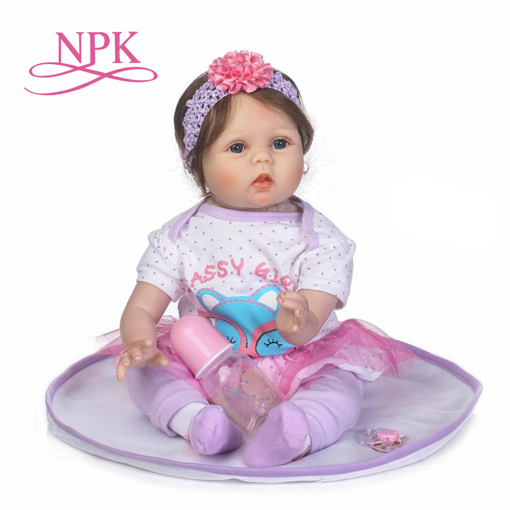 NPK reborn baby with high quailty fiber hair and soft real touch cloth body very cute