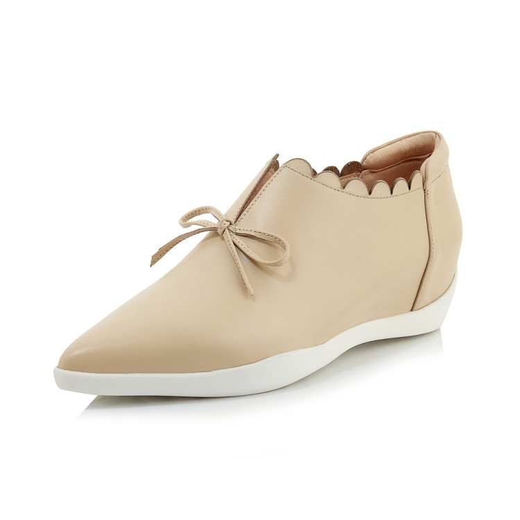 Señoras Primavera Nueva apricot Moda De Zorssar Mujeres Calzado Casuales Zapatos 2019 Mujer Las Negro Plana Planos Cómodos Punta RWUqpWnA