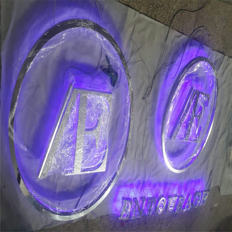 Factory Outlet  Advertising  Back Lit Led Channel Letters