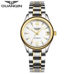 Kobiet zegarki daty świecenia GUANQIN Rainstone automatyczny zegarek wodoodporny zegarek mechaniczny zegarek marki luksusowe z płytą tylną ze stali nierdzewnej|steel back|steel stainlesssteel t -