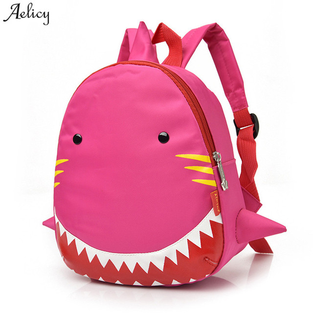 84bb5277c5 Aelicy bags for women 2018 Baby Boys Girls Kids Shark Pattern Animal  Backpack Toddler School Bag mochilas dropship wholesale hot