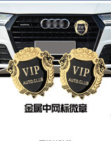 free shipping!!! 3D Personality Vintage Golden Royal Grills Trim Screw Emblem Badge for BMW Mercedes Benz Porsche Audi