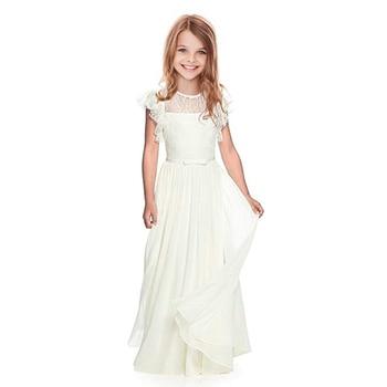 Flower Girl Dresses Lace White/Ivory Gir...