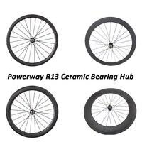OZUZ R13 Ceramic Bearing Hubs bicycle wheels 38 88mm Rear aero spoke 23 mm wide wheel Tubular Clincher Matte or glossy