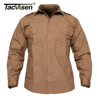 TACVASEN Light Weight Military Jacket Men Spring Waterproof Jacket Coat Tactical Jackets Summer Breathable Cargo Coat