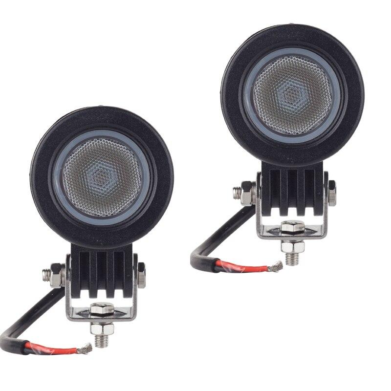 2 pcs CREE puce 10 W LED Travail Lumière 2 Pouce 12 V De Voiture Auto SUV ATV 4WD 4X4 Offroad LED Brouillard Lampe Moto Camion phare
